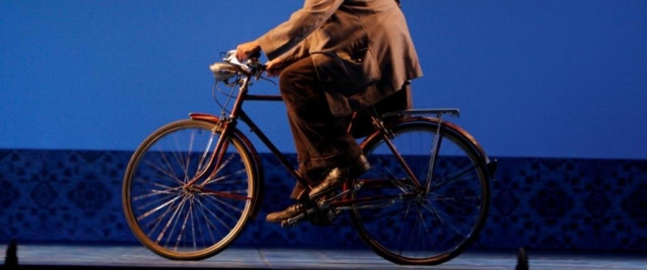 The Postman on a bike