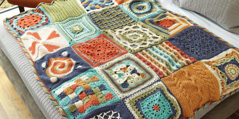 blanket, knit
