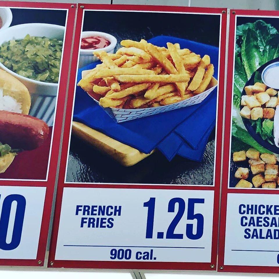 fries on the menu