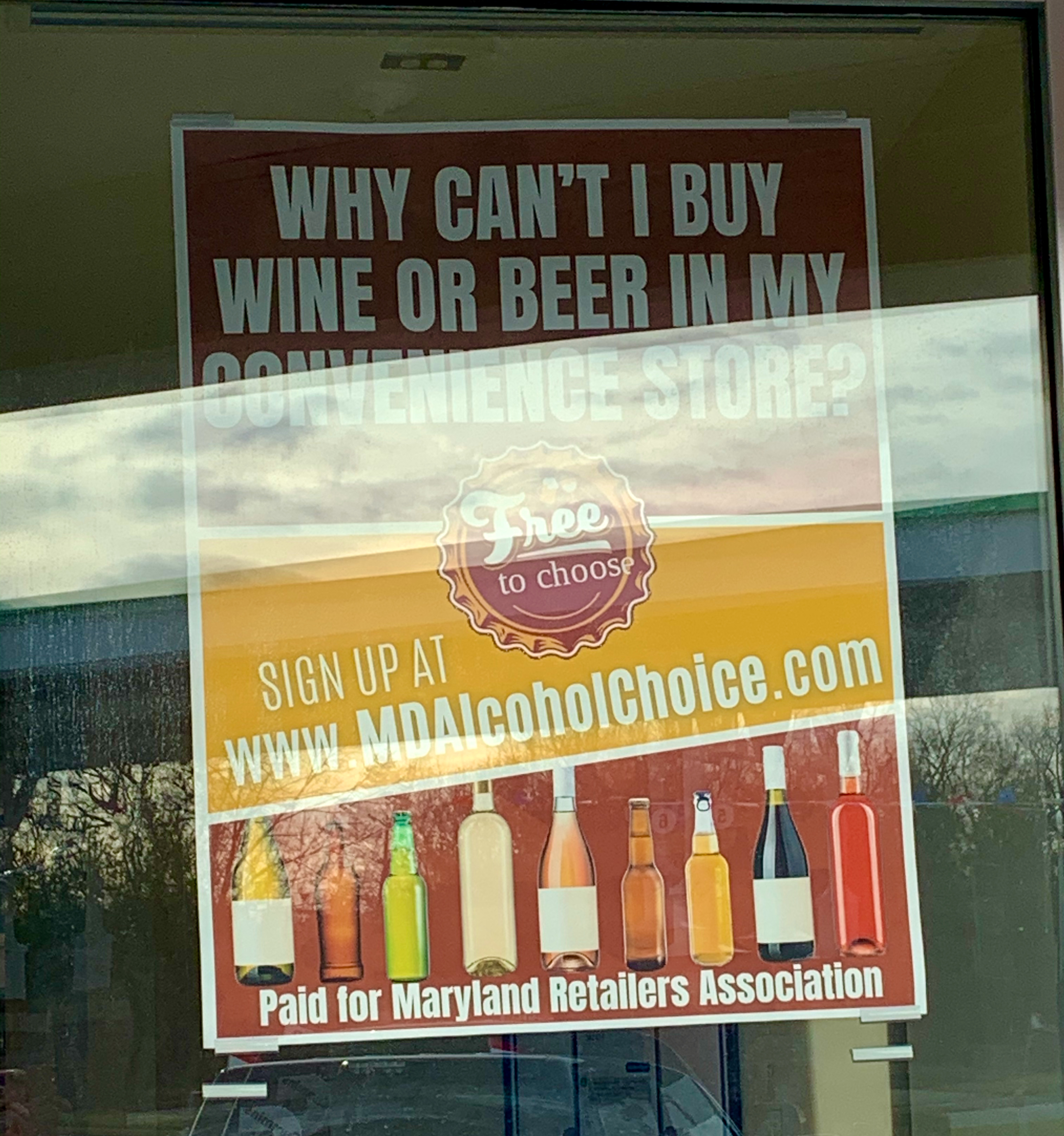 MD alcohol choice poster