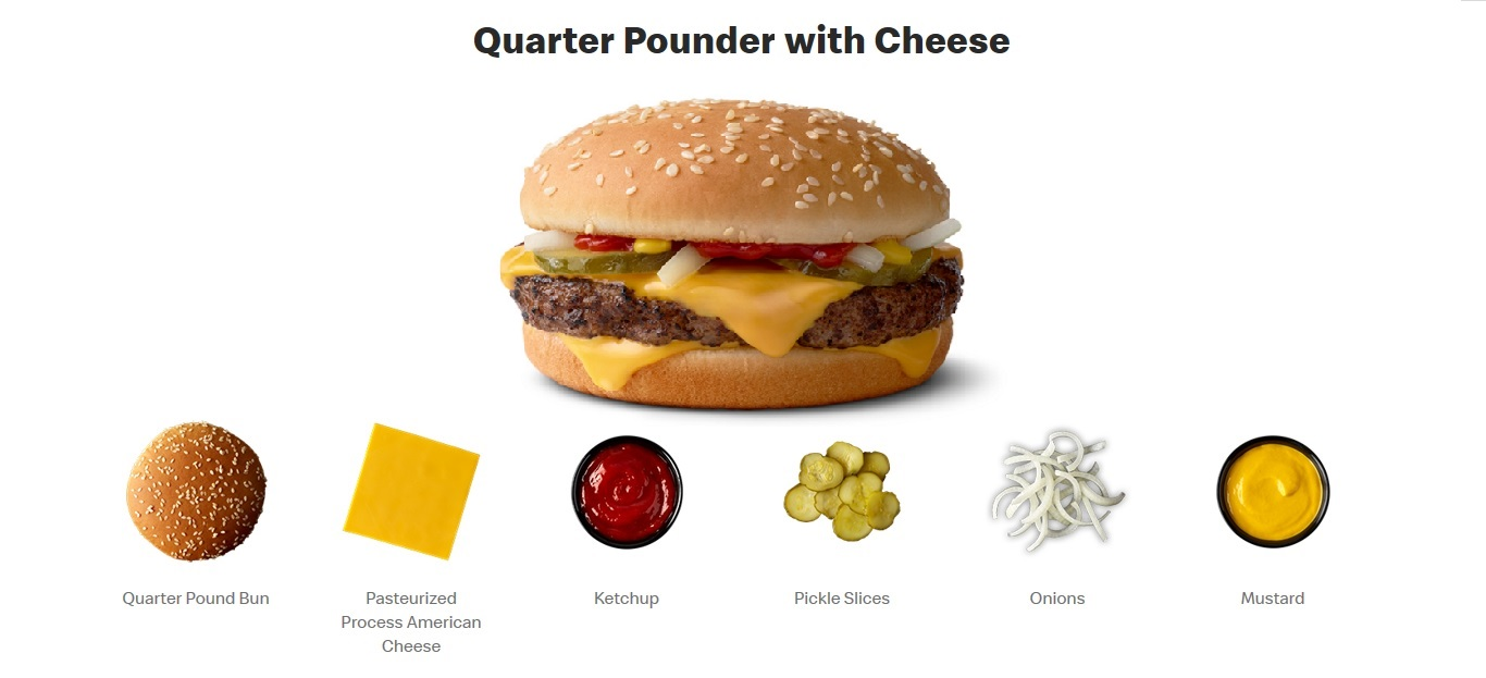 McDonald's Quarter Pounder Fan Club Set of 6 Candles Bun Cheese Ketchup Pickles Onions Mustard