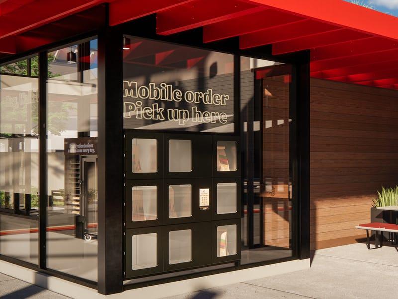 Pick-Up Food Lockers at Burger King