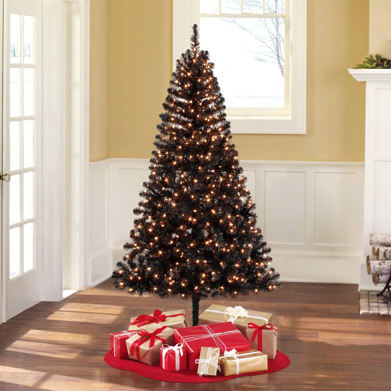 black Christmas tree