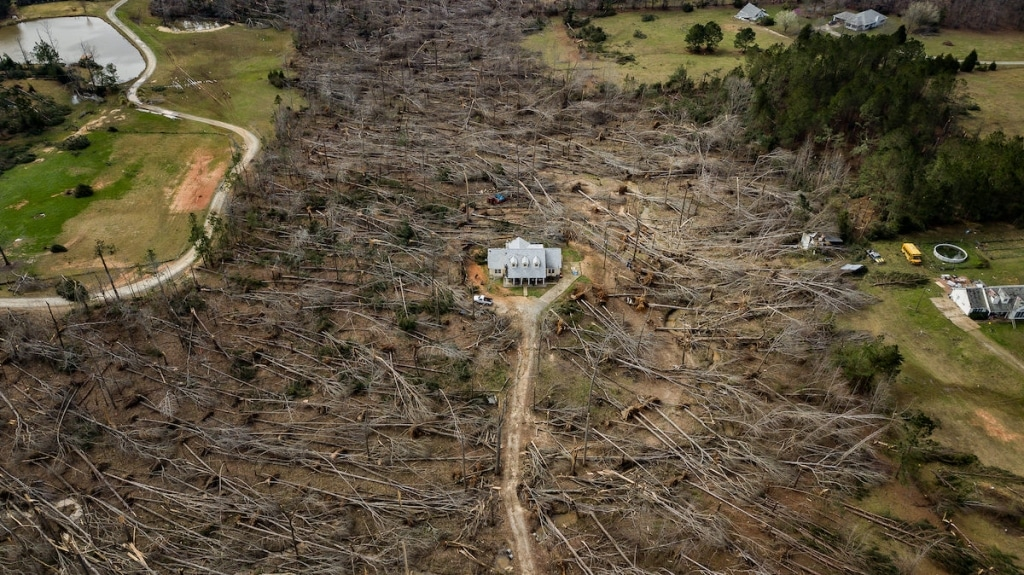 home in direct path of tornado