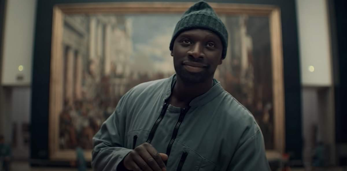 Netflix Lupin Omar Sy at the Louve