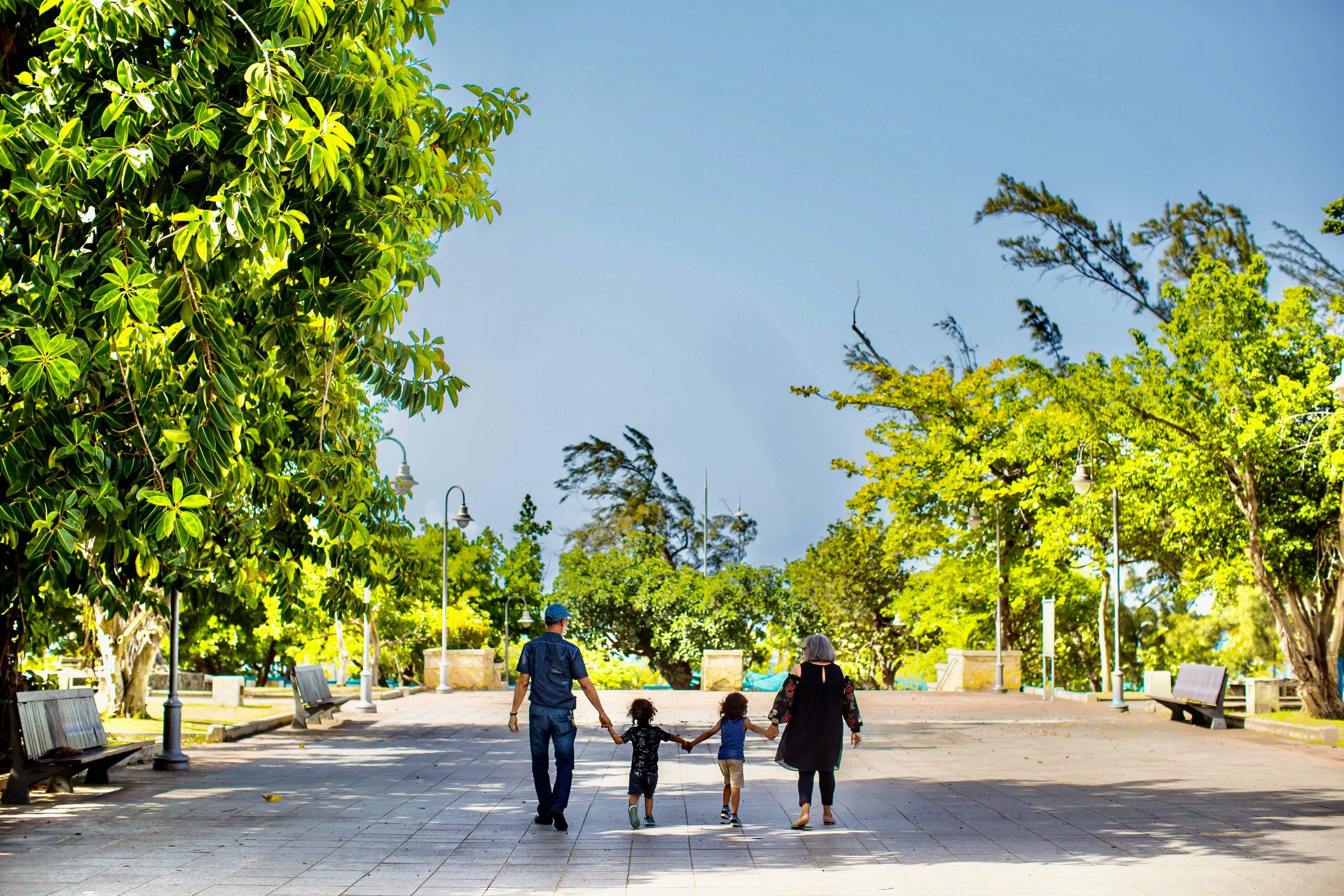 walk, family