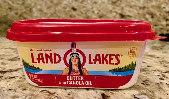 Land O' Lakes butter container