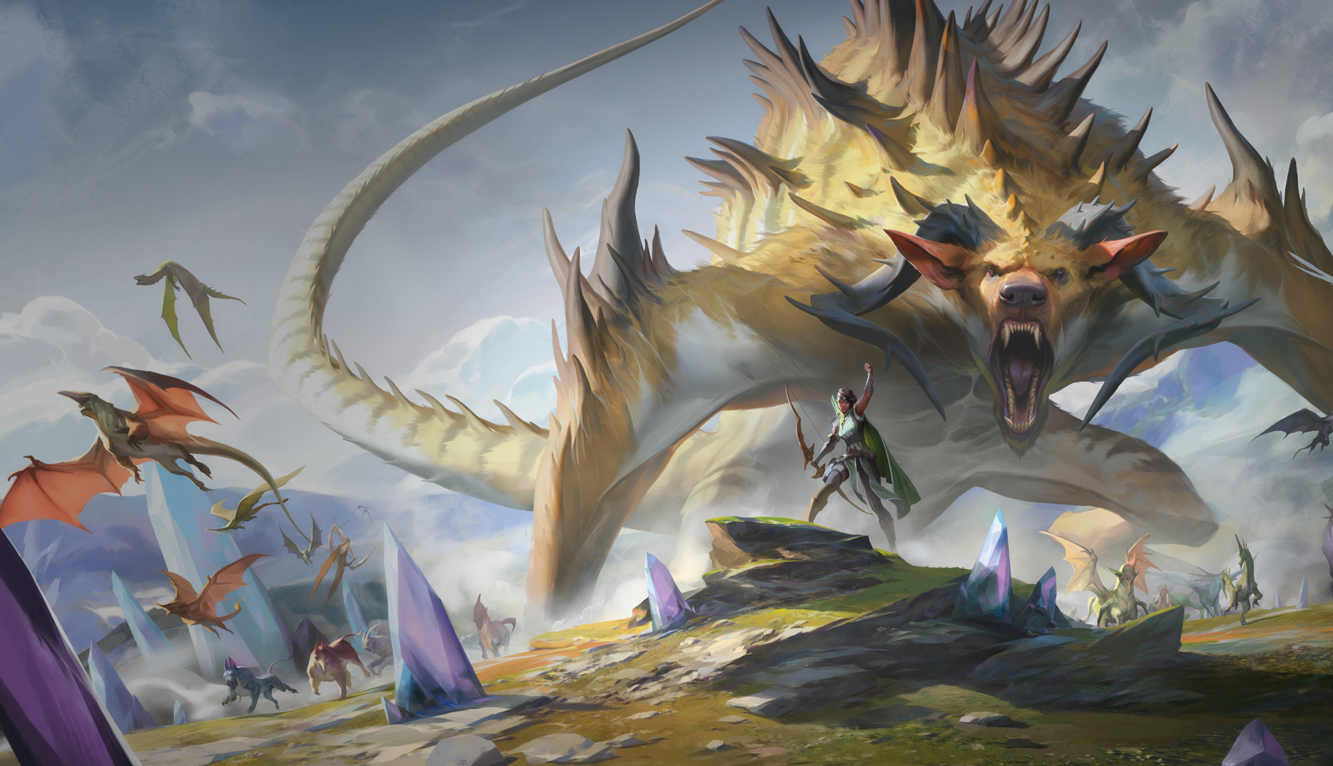 Promotional art for Ikoria, the latest expansion