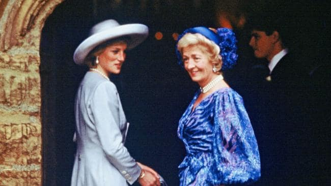 Princess Diana and her mom