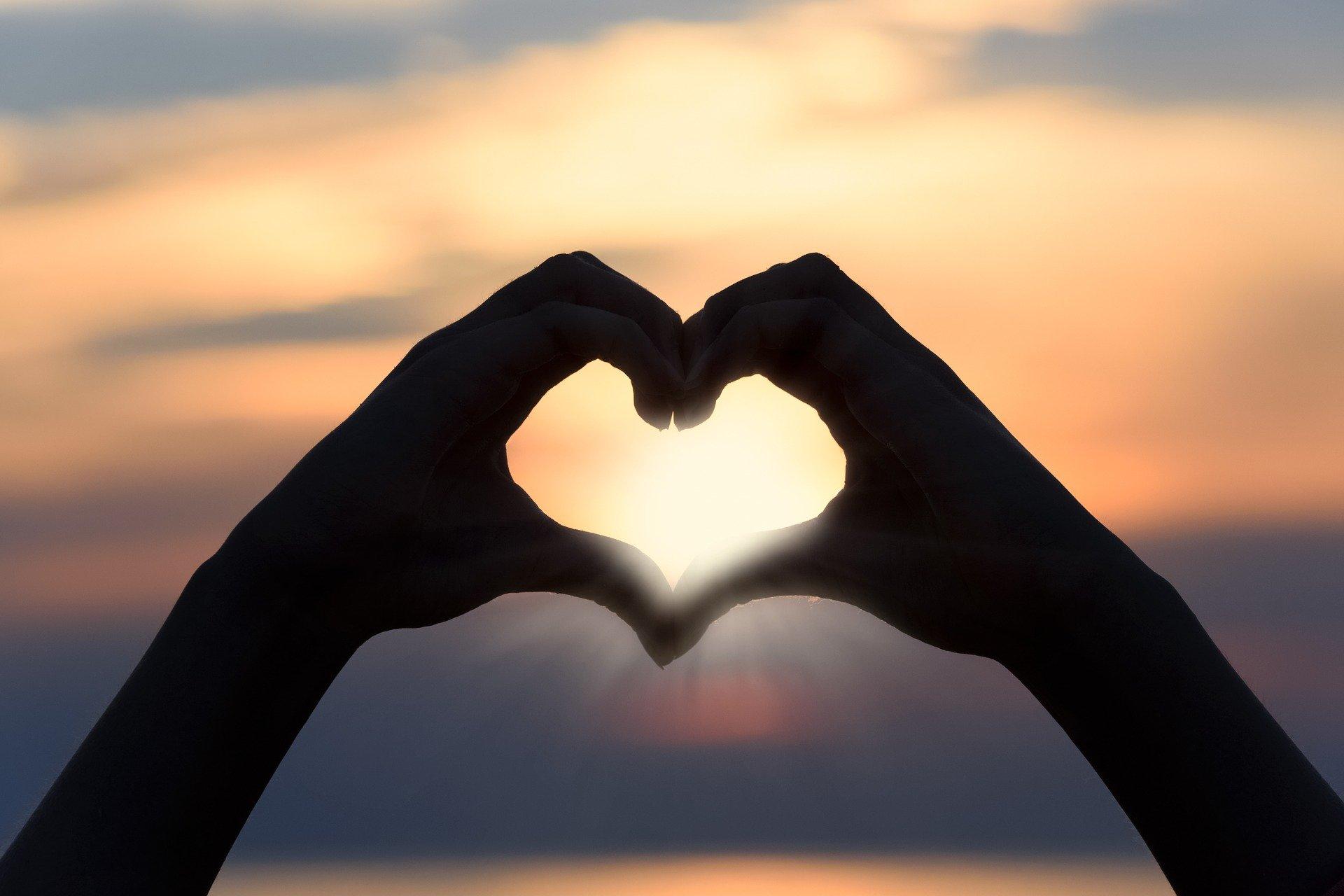 heart shape made of hands
