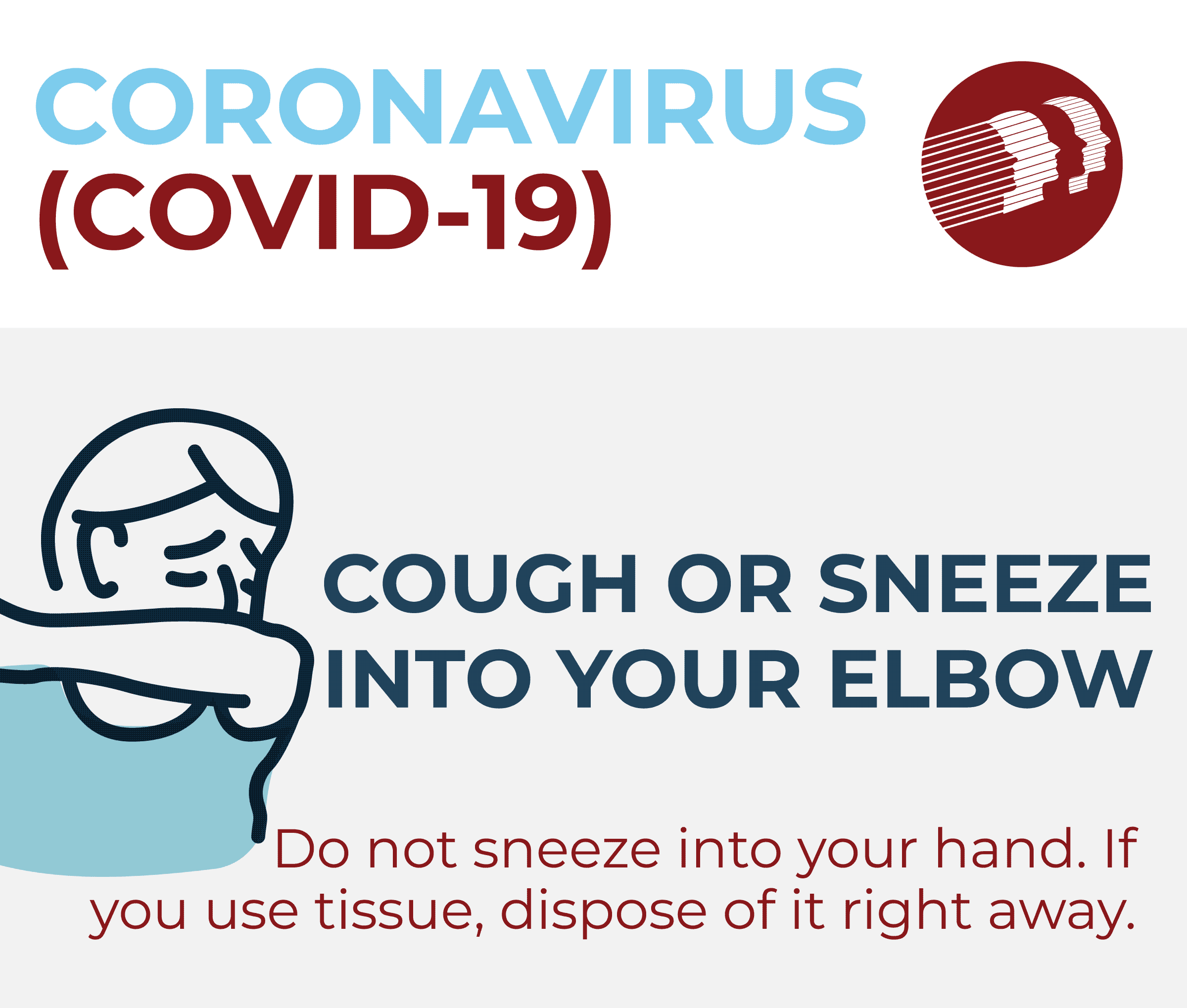 Delaware Dept of Health Coughing COVID-19 Graphic