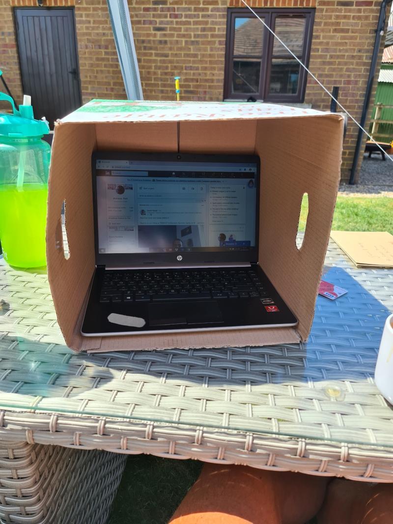 outdoor desk hack