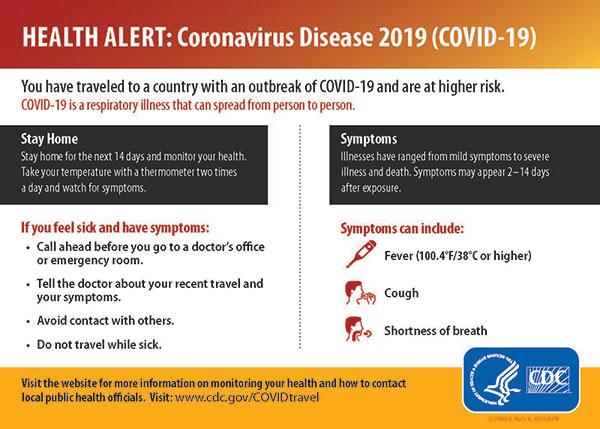 traveler health alert notice