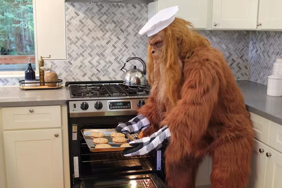 Bigfoot in kitchen
