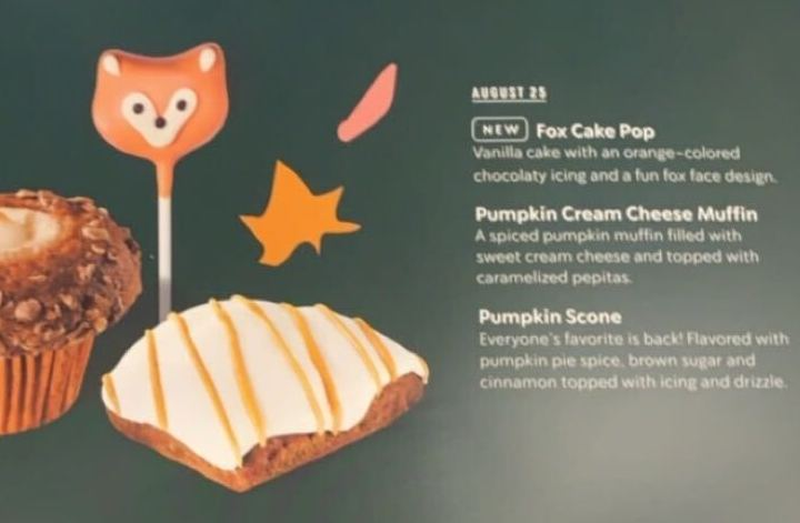starbucks fall menu