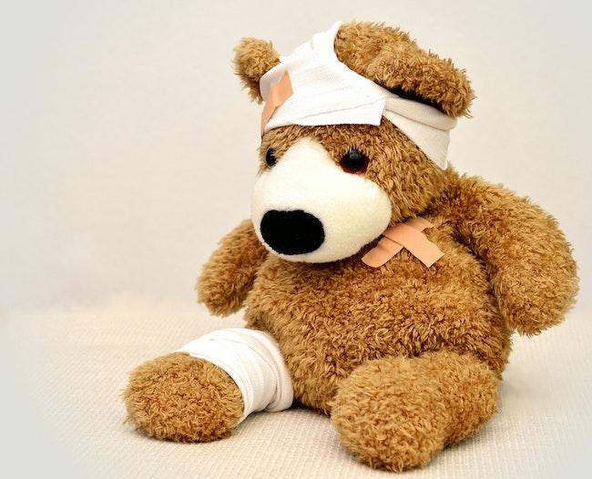 Teddy Bear bandaged