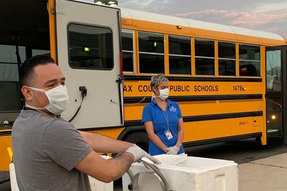school bus, nurse