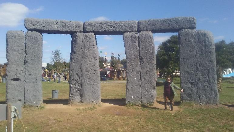 A replica of Stonehenge