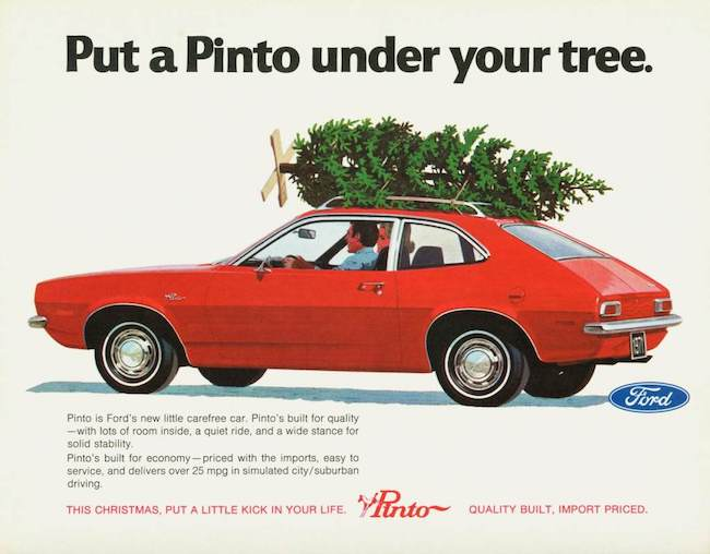 vintage ford pinto ad