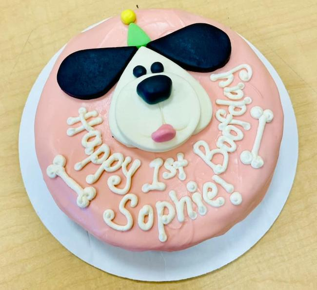 Sweet Paws Birthday Cake
