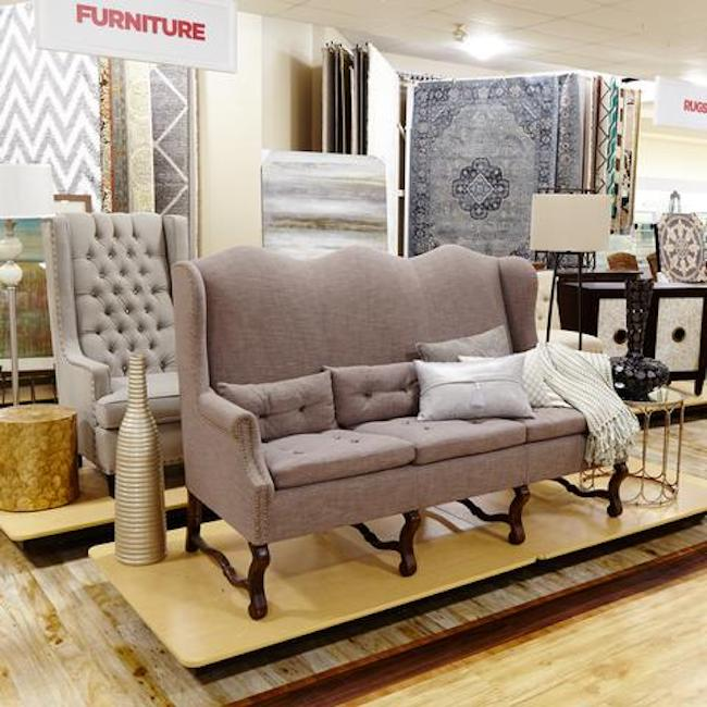 interior of HomeGoods