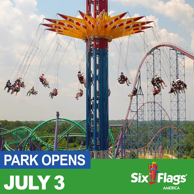 six flags america reopens