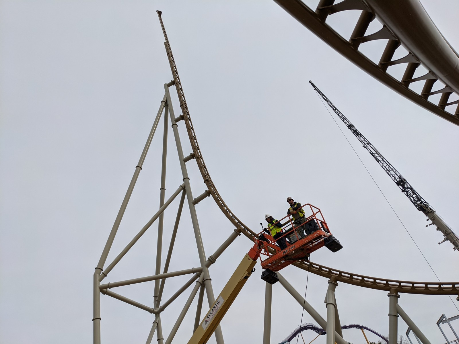 roller coaster construction