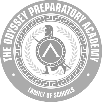 The Odyssey Preparatory Academy Logo Grey