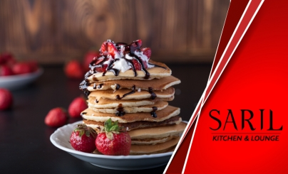 50% OFF: Desayuno Familiar en Saril Kitchen & Lounge