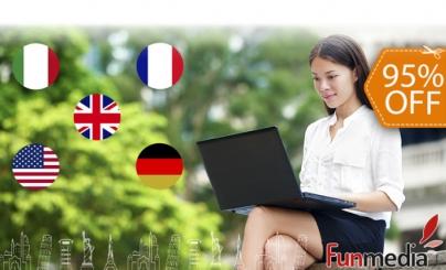 95% OFF: Cursos de Idiomas Online