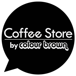 Coffee Store by Colour Brown