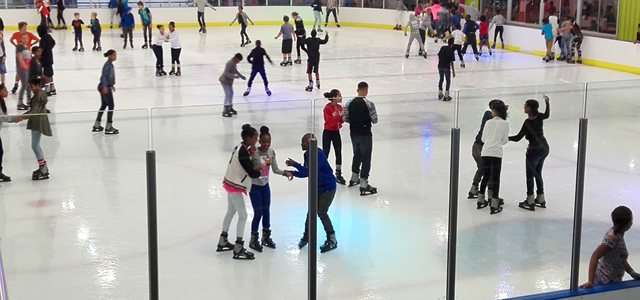 """The Ice Rink is a thrilling playground where you can feel the rush of """"I'm flying and I'm free'', or take it slow, float and glide across the wide-open space. The best part is it doesn't matter if you're four years old, a wannabe figure skater or a hockey player in training - you're never too old or too young for all the skating action. Get your adrenalin pumping in a busy public session, or just enjoy a quiet morning of fun-filled exercises with the kids."""