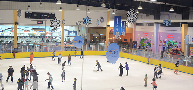 Now fun has an address at Fun Zone Ice Skating Center, your one-stop destination for fun. We have two branches, one located in the heart of Qurum and the other in Nizwa (Dakhliya Region). The state-of-the-art facilities offer the only two arenas in the Sultanate. We also have a bowling alley and a billiard hall and are the proud host of an excellent line of restaurants and cafes. Come join the fun at Fun Zone – the coolest place.