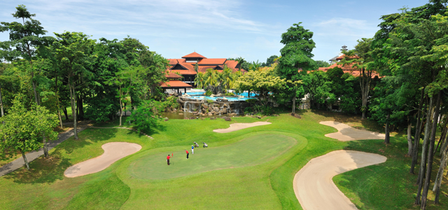 Pulai Springs Resort is a world-class golf and recreational resort with 5-star facilities located in Skudai, Johor Bahru. Facilities include an 18-hole championship golf course, five swimming pools, five restaurants, an award-winning Chinese restaurant, Tee-Tee Club (kids indoor playground), a sauna, steam room, indoor and outdoor Jacuzzi, a private Cineplex where you can watch movies, ten meeting rooms and The Pulai Spa, a Balinese concept spa.