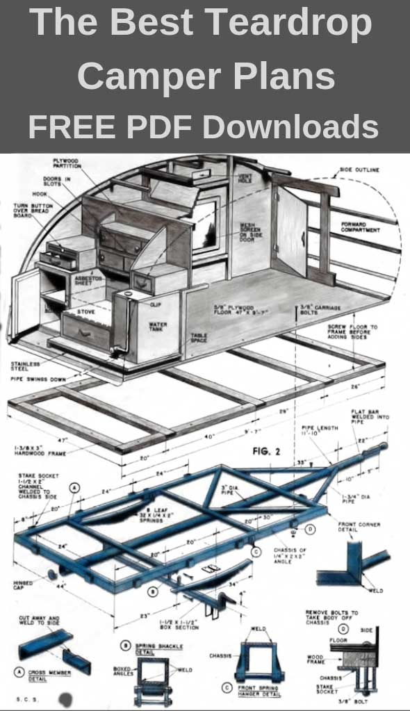 Free Teardrop Camper Plans PDF Downloads