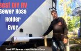 how to make an rv sewer hose holder