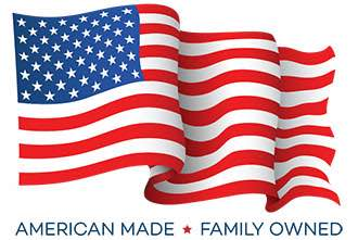 Waving American Made Family Owned American Flag