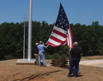 Wellborn proudly displays the American flag in front of our factory.