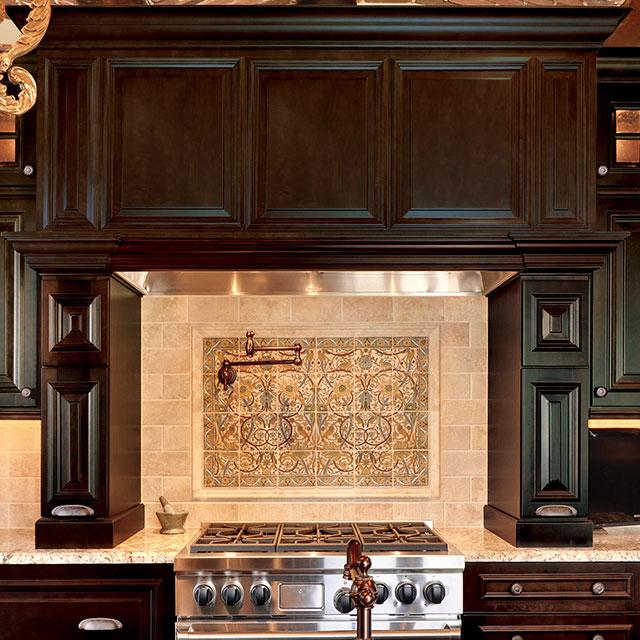 Custom design ideas kitchen Mantle cabinet wood hood