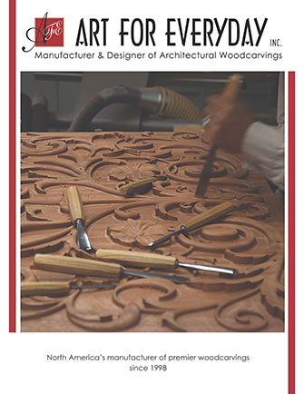 Products and design ideas created using Art for Everydays carvings and mullion doors