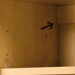 Home Concepts All Plywood Wall Cabinet Hanging Rail