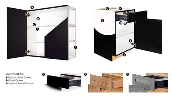 Aspire Frameless Cabinet Construction