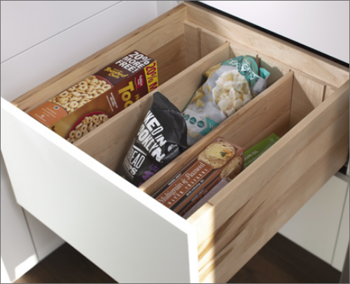 BUTLER?S PANTRY <br> Deep divider kits are created for making the pantry a safe space. Easy organization in the most elegant way.