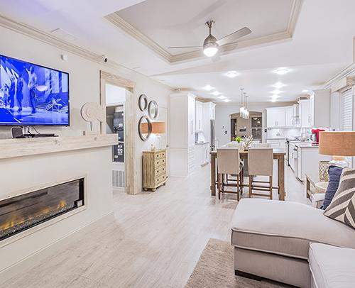 Living Room - Kitchen open floor plan