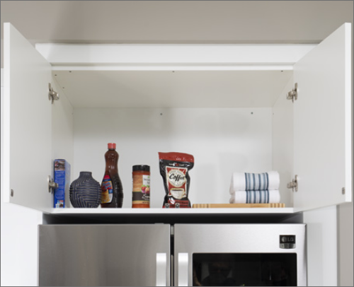 CABANA KITCHEN<br> This refrigerator cabinet is both useful and with a modern touch.