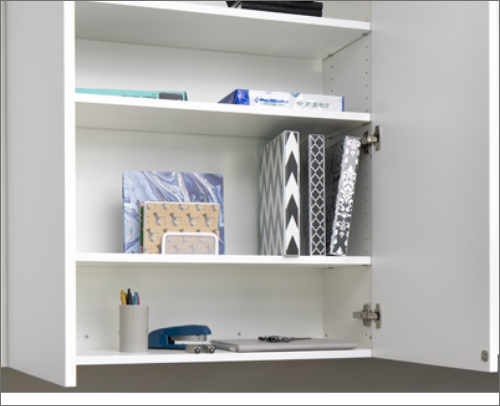 CABANA OFFICE <br> These cabinets are a satisfying option when it comes to keeping the office well kept.