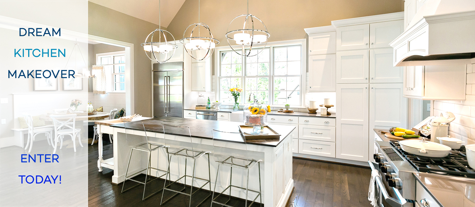 Dream Kitchen Makeover image with text
