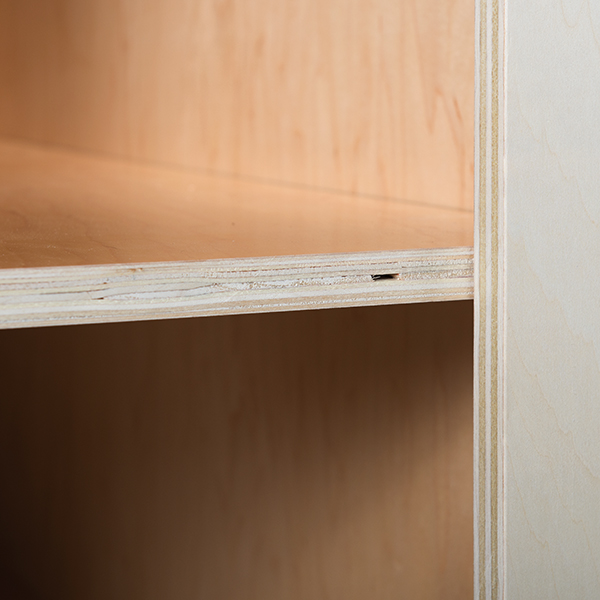 Laminated Plywood Shelves with Edge Banding