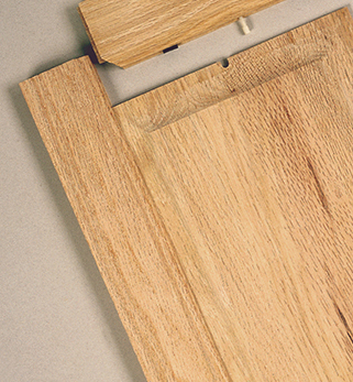 Photo of solid wood door stiles and rails