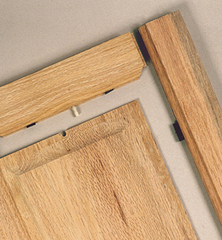 Solid Wood Raised Center Panel